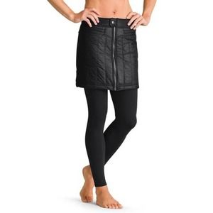 Athleta Navy Toasted Buns Quilted Zip Mini Skirt